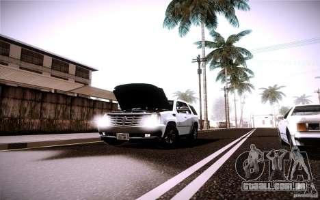 Cadillac Escalade para GTA San Andreas vista interior
