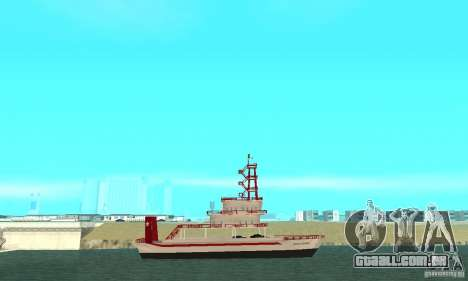Vice City Ferryboat para GTA San Andreas esquerda vista