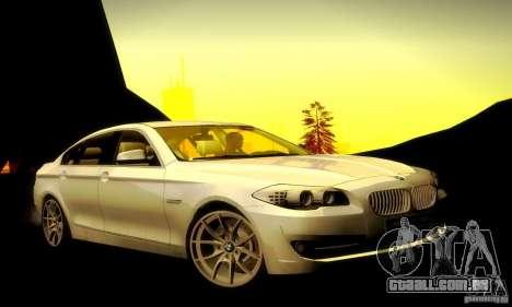 BMW 550i F10 para GTA San Andreas vista direita