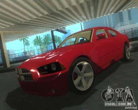 Dodge Charger 2011 para GTA San Andreas vista superior