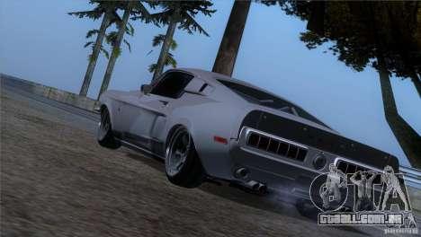 Shelby GT500 1969 para GTA San Andreas esquerda vista