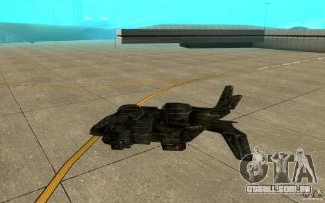 O serviço de transporte do jogo Aliens vs Predat para GTA San Andreas traseira esquerda vista