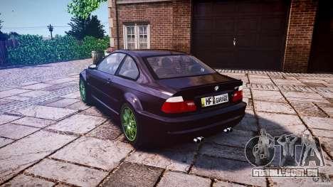 BMW M3 e46 2005 para GTA 4 traseira esquerda vista