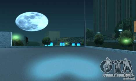 Lâmpadas de néon cor para GTA San Andreas quinto tela