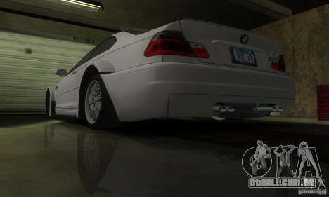 BMW M3 Tuneable para GTA San Andreas vista inferior