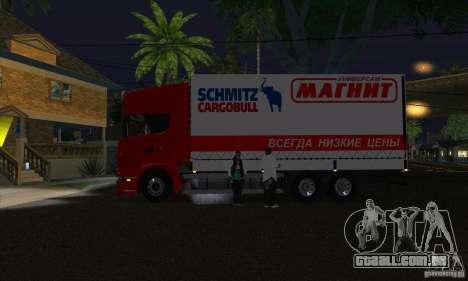 Scania R620 ímã para GTA San Andreas esquerda vista