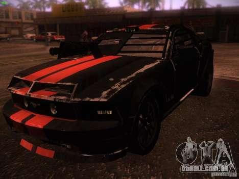 Ford Mustang Shelby GT500 para GTA San Andreas esquerda vista