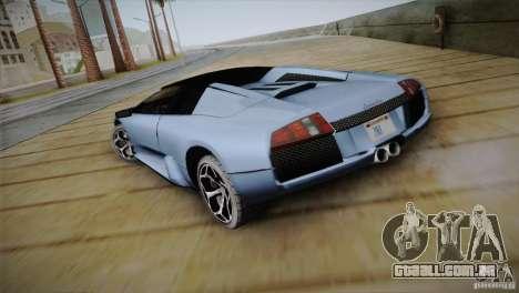 Lamborghini Murcielago Roadster para GTA San Andreas traseira esquerda vista