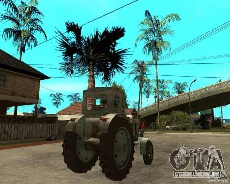 Trator Т-40М para GTA San Andreas traseira esquerda vista