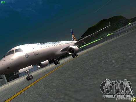 Embraer ERJ 190 Lufthansa Regional para GTA San Andreas vista interior