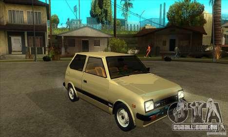 Daihatsu Cuore 1981 para GTA San Andreas vista traseira