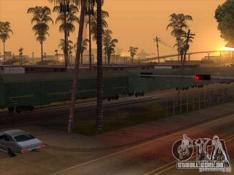 Vagão # 59004960 para GTA San Andreas vista direita