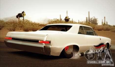 Pontiac GTO Drag Shark para GTA San Andreas esquerda vista