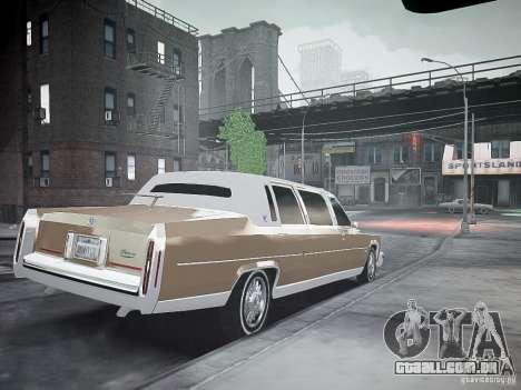 Cadillac Fleetwood 1985 para GTA 4 esquerda vista