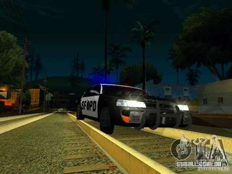 San-Fierro Sultan Copcar para GTA San Andreas vista interior