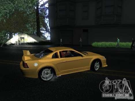 Ford Mustang SVT Cobra para GTA San Andreas traseira esquerda vista
