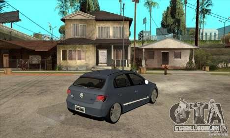 Volkswagen Gol G5 para GTA San Andreas vista direita