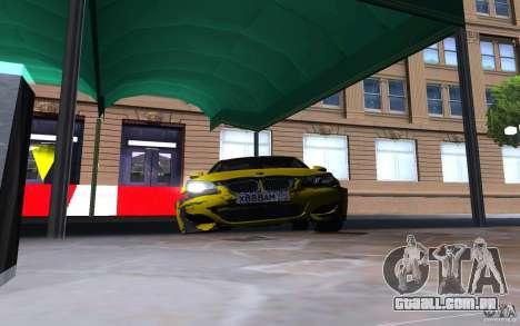 BMW M5 Gold Edition para GTA San Andreas vista superior