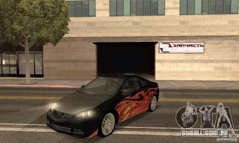 Acura RSX New para vista lateral GTA San Andreas