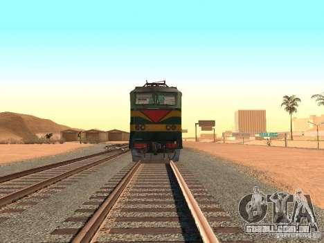 Cs7 233 para GTA San Andreas vista traseira