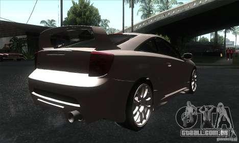 Toyota Celica-SS2 Tuning v1.1 para GTA San Andreas traseira esquerda vista