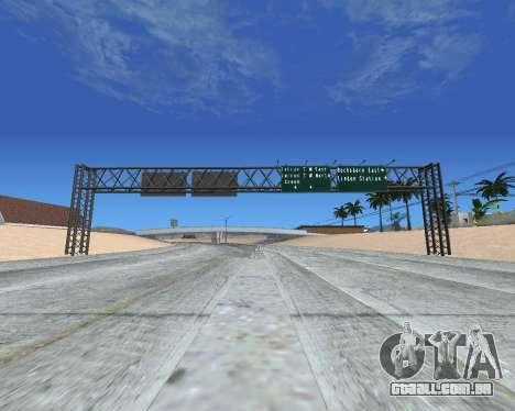 Estrada sinais v 1.2 para GTA San Andreas terceira tela