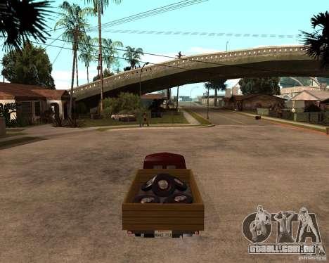 Gaz M-20 Pobeda PickUp para GTA San Andreas traseira esquerda vista