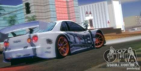 Nissan Skyline Touring R34 Blitz para GTA San Andreas vista superior