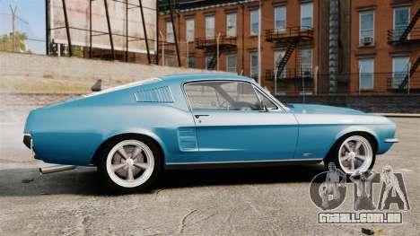 Ford Mustang Customs 1967 para GTA 4 esquerda vista