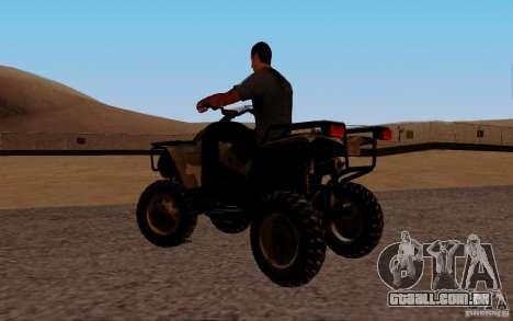 Quadbike from BF 3 para GTA San Andreas esquerda vista