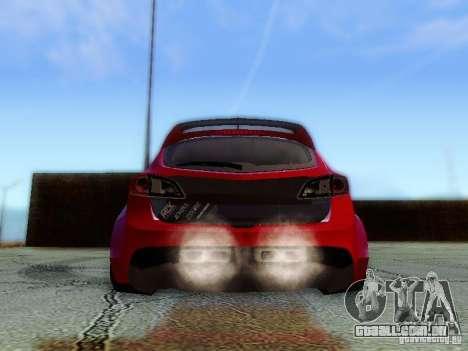 Mazda Speed 3 2010 para GTA San Andreas vista interior