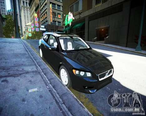 Volvo C30 2009 para GTA 4 vista de volta