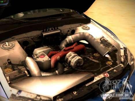 Subaru impreza Tarmac Rally para GTA San Andreas vista interior