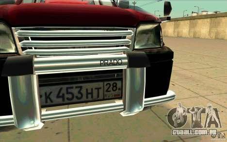 Toyota Land Cruiser Prado para vista lateral GTA San Andreas