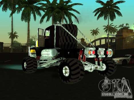 Kenworth W900 Monster para GTA San Andreas esquerda vista