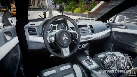 Mitsubishi Evolution X Police Car [ELS] para GTA 4 vista direita
