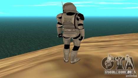 Commander Bacara para GTA San Andreas por diante tela