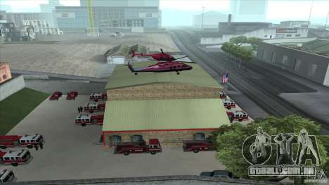 O fogo animado o SF v 3.0 Final para GTA San Andreas por diante tela