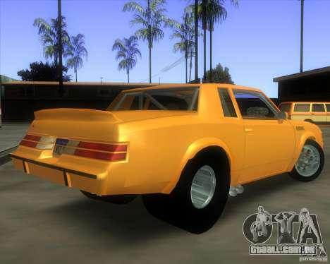 Buick GNX pro stock para GTA San Andreas esquerda vista