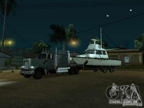 Reboque de barcos para GTA San Andreas esquerda vista