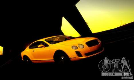 Bentley Continental Supersports para GTA San Andreas esquerda vista