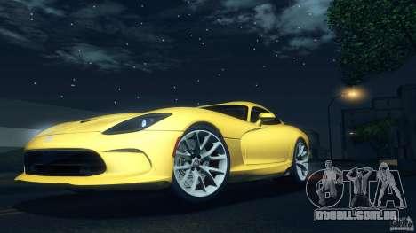 Dodge SRT Viper GTS 2012 V1.0 para GTA San Andreas vista interior