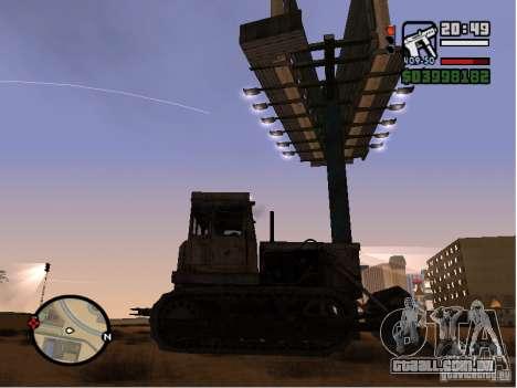 Bulldozer T 130 para GTA San Andreas traseira esquerda vista