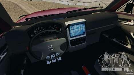 Dodge Ram 2500 Army 1994 v1.1 para GTA 4 vista interior