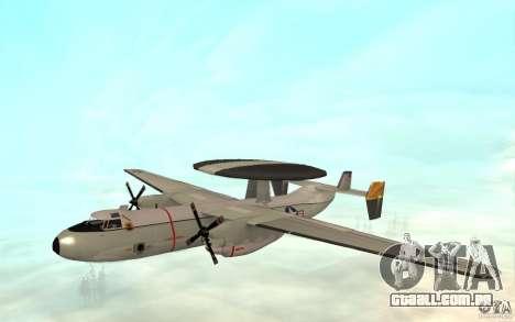 E-C2 Hawkeye para GTA San Andreas esquerda vista