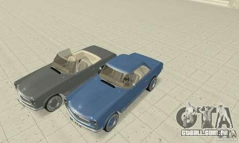 Mercedes-Benz 280SL (Matt) para GTA San Andreas vista inferior