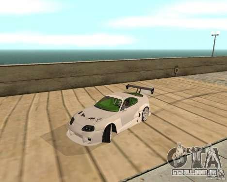 Toyota Supra TwinTurbo para GTA San Andreas traseira esquerda vista