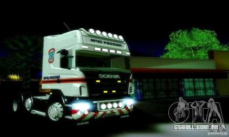 Scania R620 Emercom da Rússia para GTA San Andreas esquerda vista