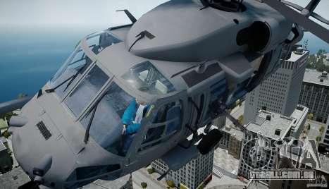 HH-60G Pavehawk para GTA 4 traseira esquerda vista
