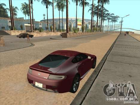 Aston Martin v8 Vantage n400 para GTA San Andreas esquerda vista